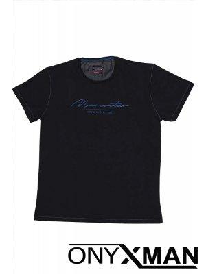 Тениска СЛИМ в черен цвят Големи Размери