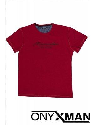 Тениска СЛИМ в червен цвят Големи Размери
