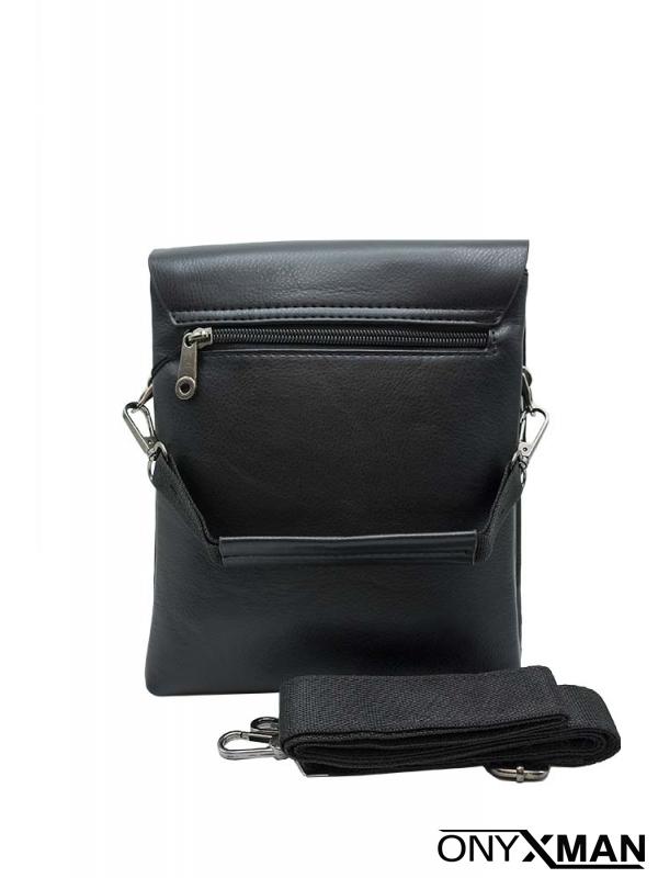 Чанта за през рамо с метална буква
