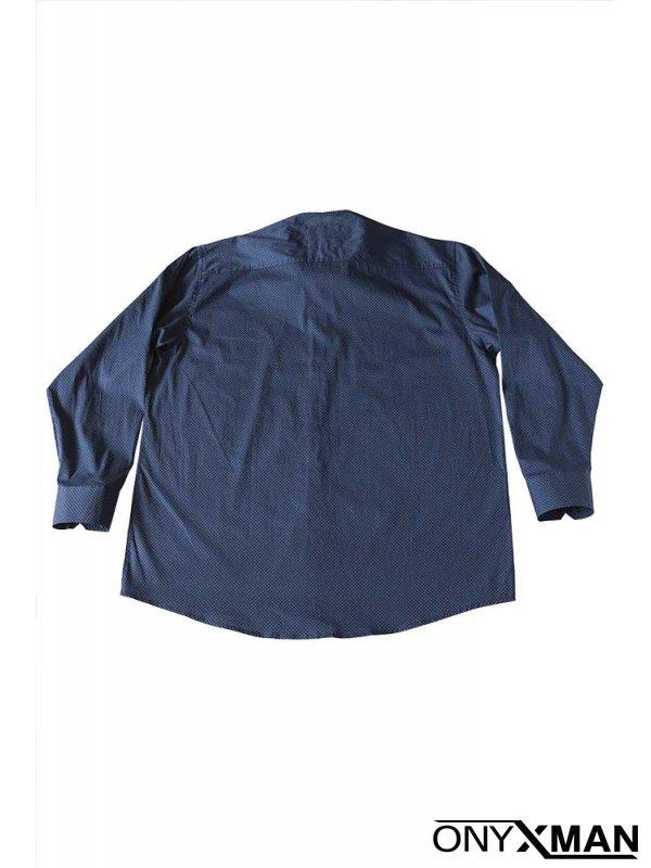Мъжка риза Макси размер в синьо