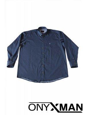 Мъжка риза Големи размери в синьо
