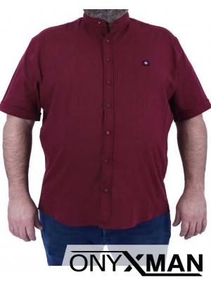 Риза с къс ръкав за едри фигури Големи Размери
