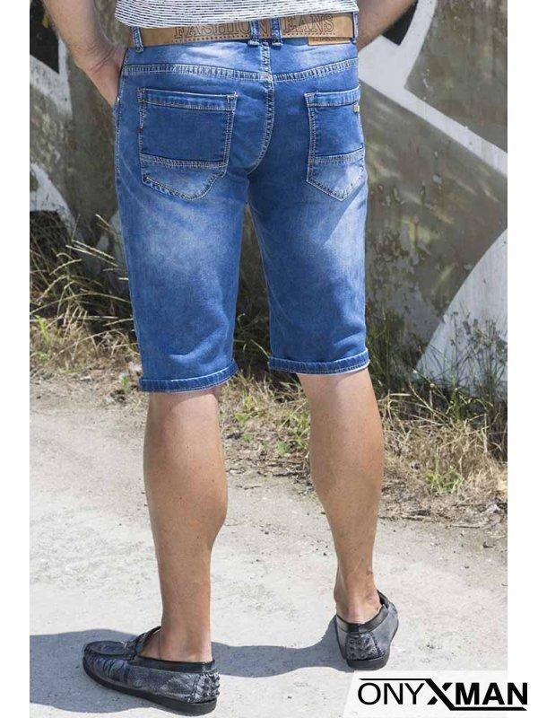 Стилни сини къси дънки