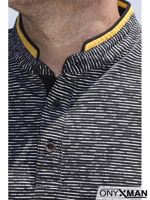 Тениска със столче яка 151012