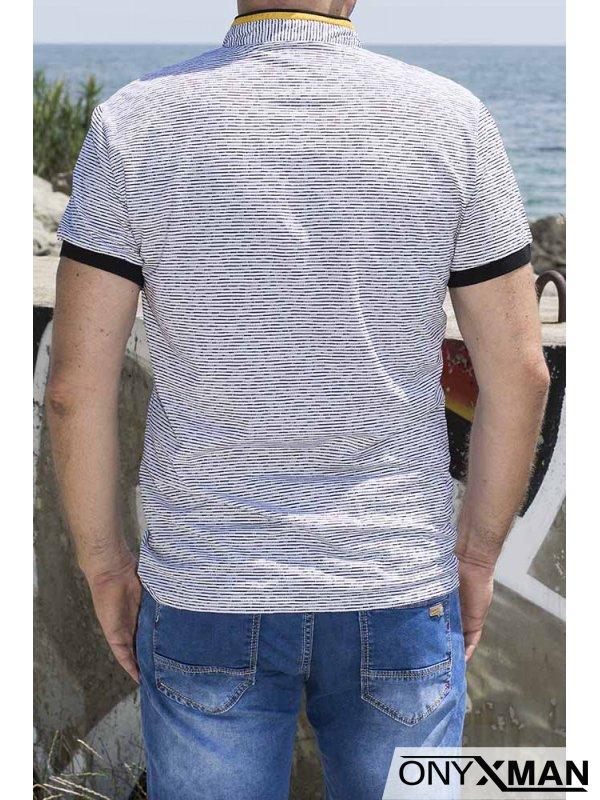 Тениска със столче яка 151011