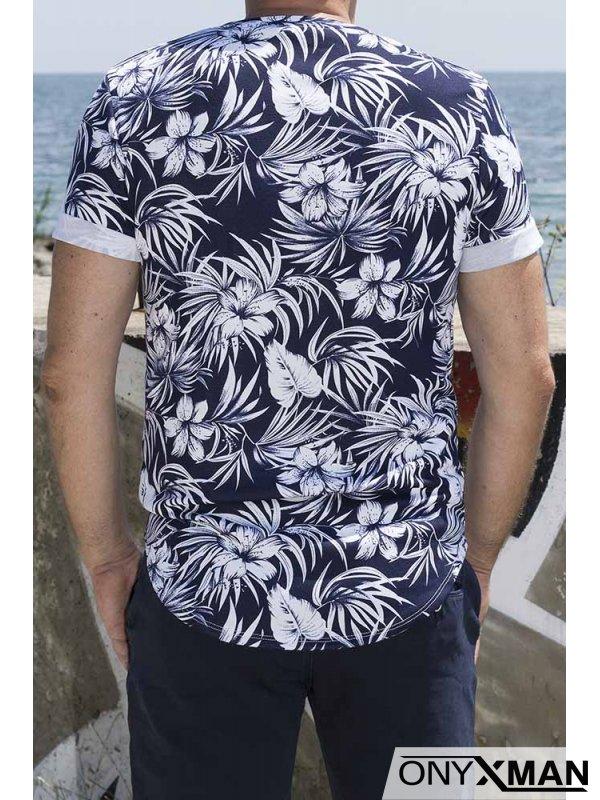 Тениска с цветя 150861