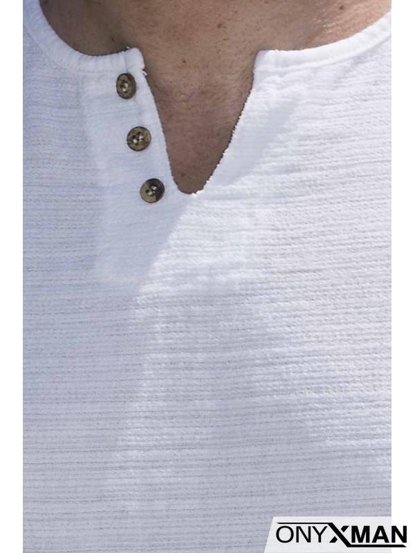 Тениска с декоративни копченца 152551