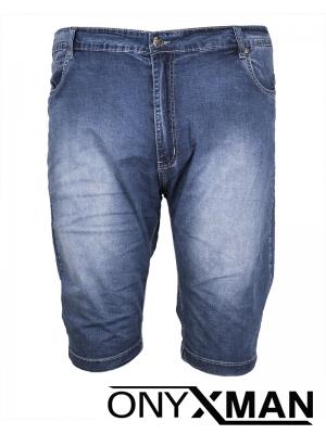 Къси изчистени дънкови панталони Големи размери