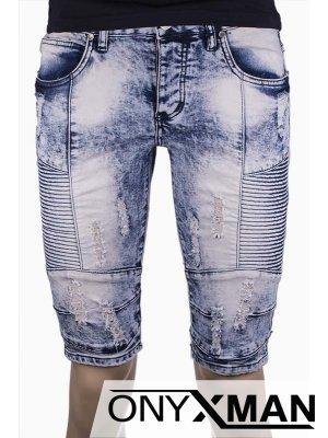 Мъжки екстравагантни къси дънки
