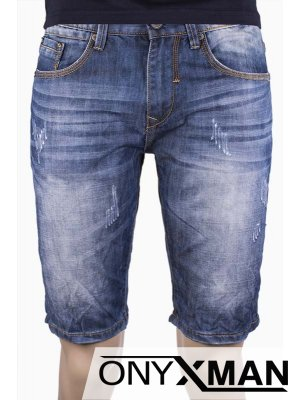 Мъжки къси дънки без еластичност