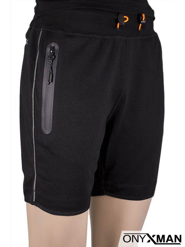 Мъжка къса долница със светлоотражателна лента