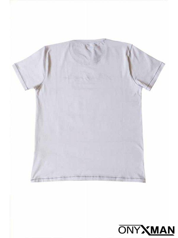 Тениска СЛИМ в бял цвят