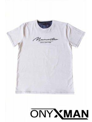 Тениска СЛИМ в бял цвят Големи Размери