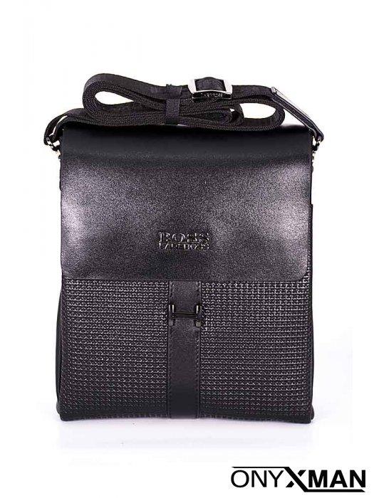 Мъжка чанта с релефна кожа