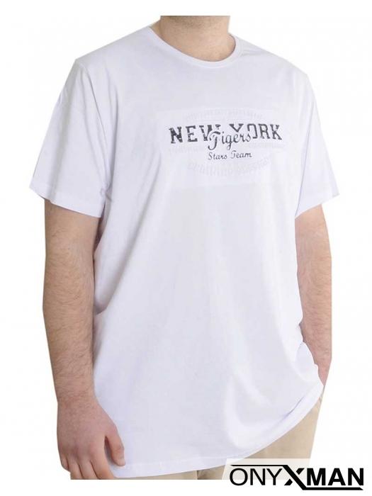 Мъжка тениска с надпис