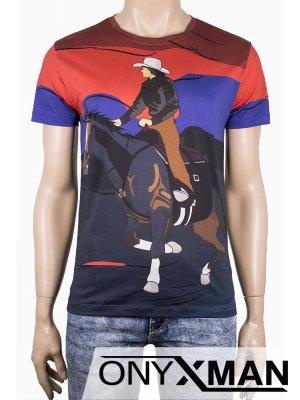 Мъжка тениска Каубой