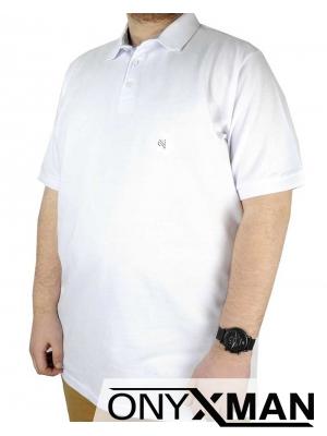 Мъжка тениска с яка Големи размери