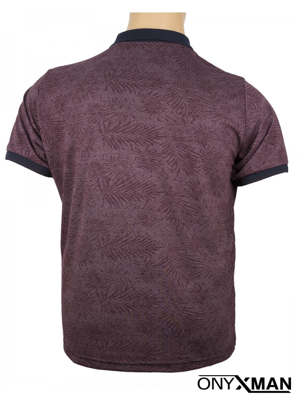 Мъжка Макси тениска с яка и копченца