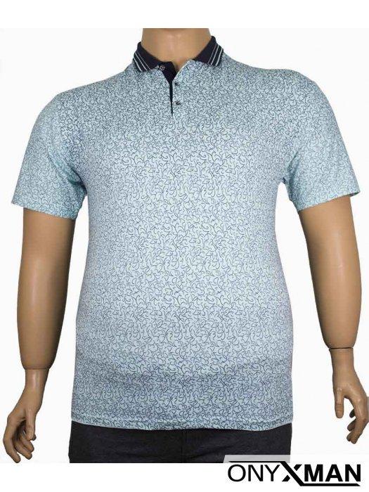 Мъжка тениска с яка и копченца