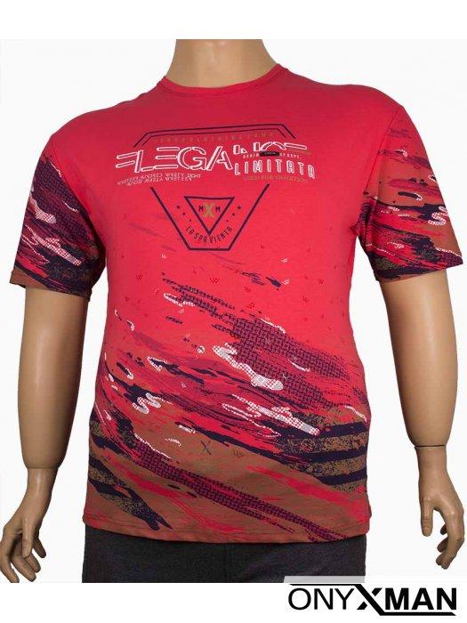 Мъжка тениска с цветен принт