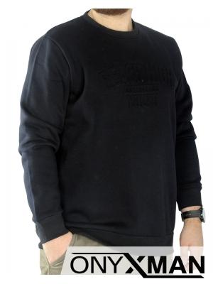 Мъжка трикотажна блуза с принт Големи размери