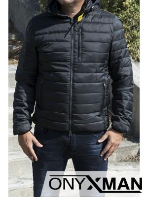 Спортно-елегантно мъжко яке с качулка
