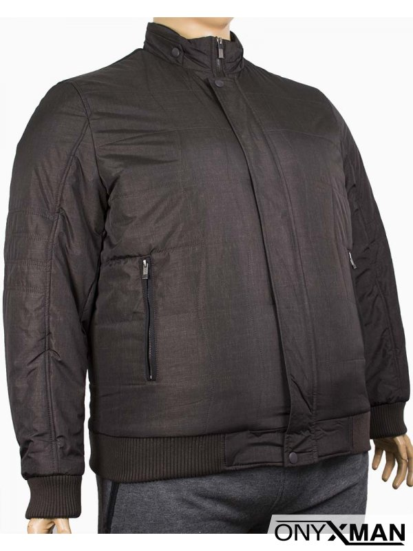 Стилно зимно мъжко яке (Големи размери)