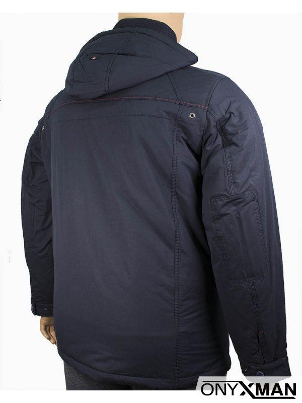 Мъжко яке в много тъмно син цвят (Големи размери)