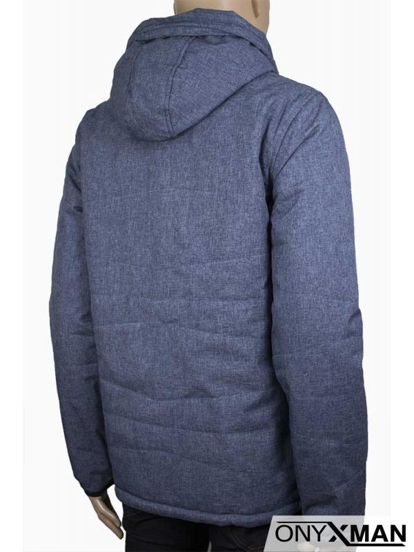 Мъжко яке в сив и син цвят