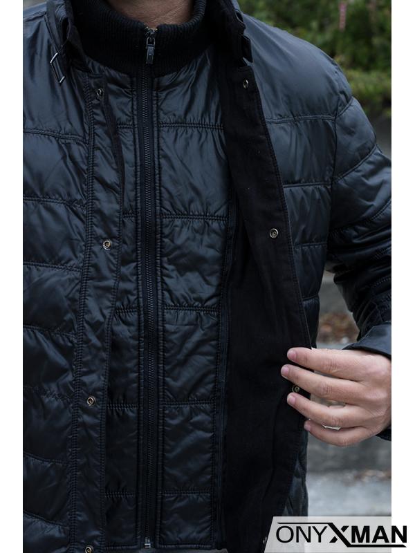 Мъжко зимно яке с пълнеж от гъши пух
