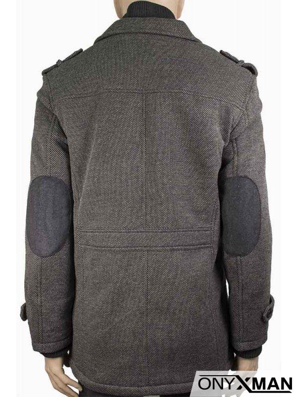 Мъжко спортно-елегантно вталено палто