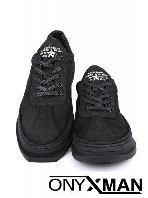 Мъжки спортно-елегантни обувки с интересна подметка