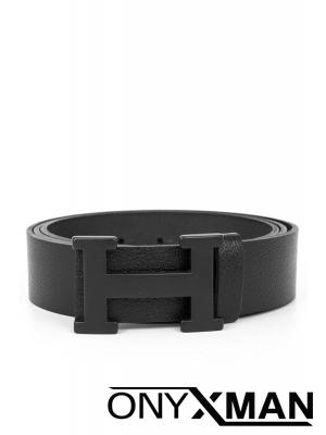 Мъжки колан от естествена кожа с черна тока №:80057