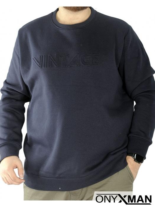 Мъжка топла блуза с принт