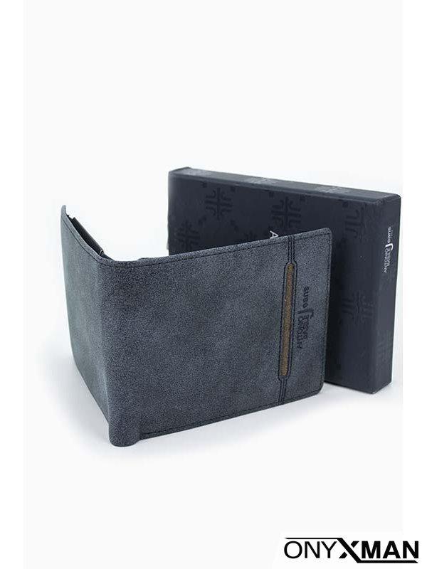 Интересно мъжко портмоне в син цвят Basile