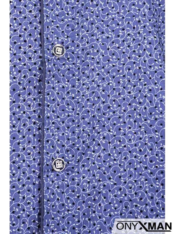 Празнична мъжка риза в тъмно син цвят
