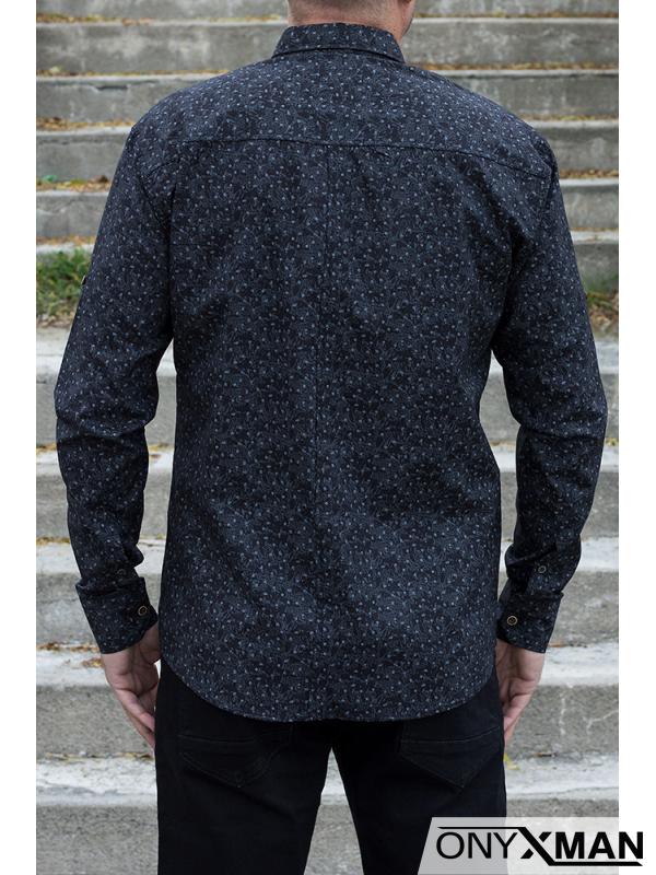 Мъжка риза с десен на малки цветенца
