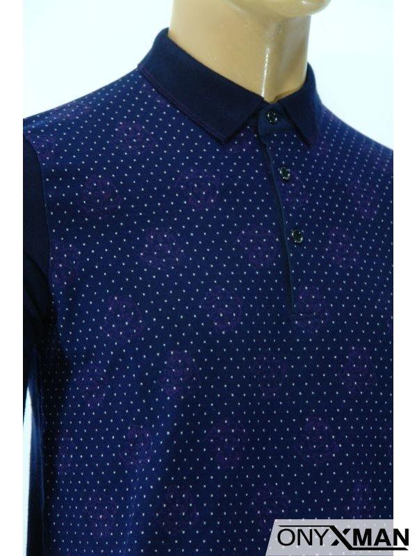 Модерна мъжка блуза с яка