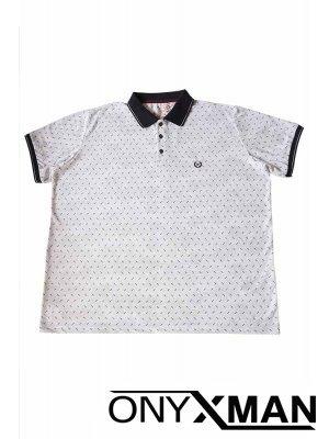 Свежа лятна тениска с яка Големи Размери