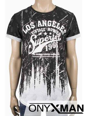 Интересна тениска в бяло LA
