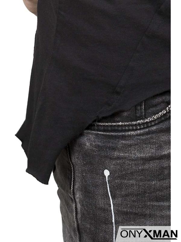 Модерен тишърт в черен цвят