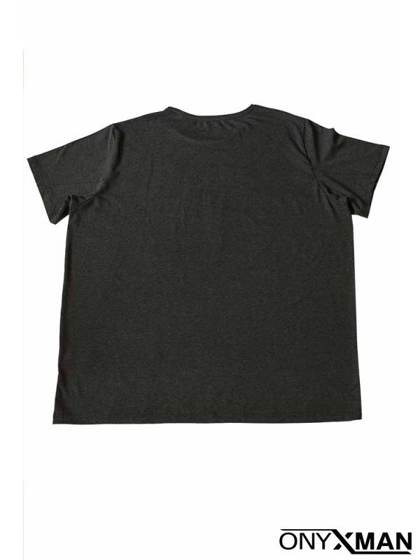 Макси тениска в тъмно сив цвят