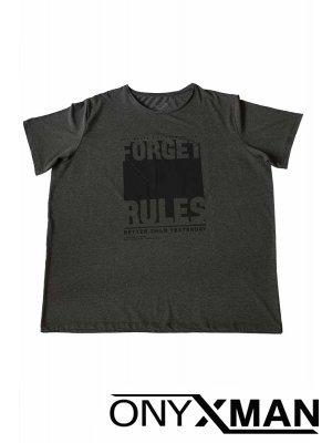 Макси тениска в тъмно сив цвят Големи Размери