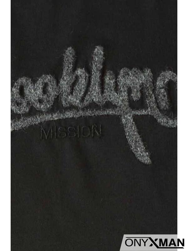 Макси тениска в черен цвят