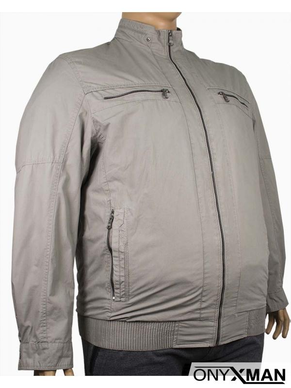 Мъжко пролетно яке в бежов цвят (Големи размери)