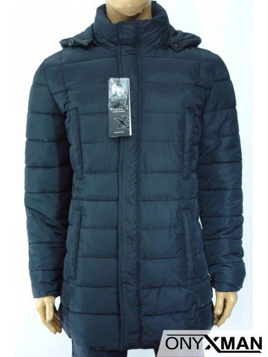Мъжко зимно яке с ластик около кръста