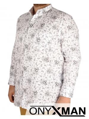 Стилна мъжка риза в бял цвят