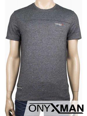 Тениска с надпис I can do it в тъмно сиво