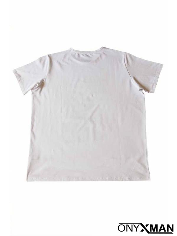 Макси тениска в бял цвят