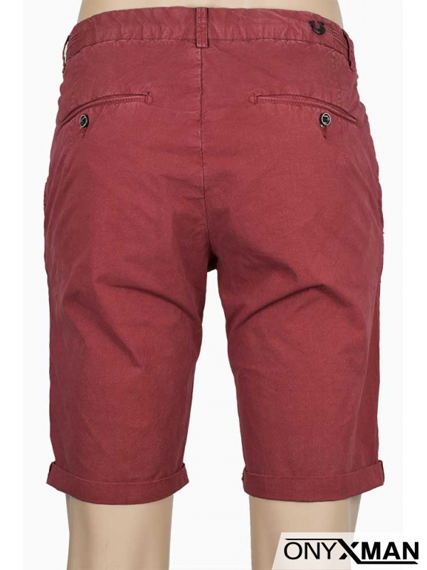 Къс панталон в червено